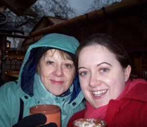 me and mom..